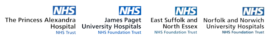 NHS Logos pf Hospitals in Eastern England