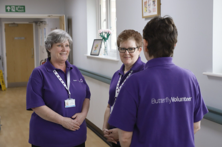 Three Butterfly Volunteers Who Provide End Of Life Care in UK Hospitals